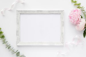Styled photo - frames & flowers