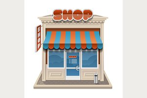 shop, store or cafe icon