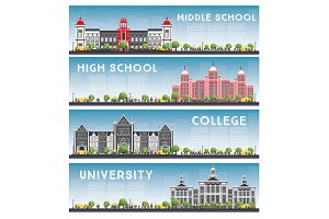 Set of University, High School
