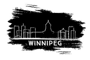 Winnipeg Canada Skyline Silhouette.