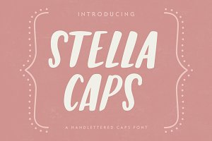 Stella Caps: A Handlettered Font