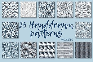25 Handdrawn patterns