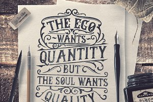 The Ego Wants Quantity