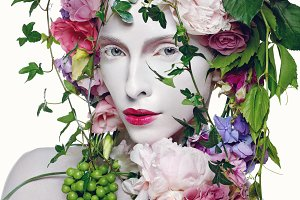 Beautiful flower queen