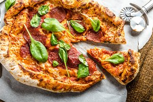 Rustic pizza