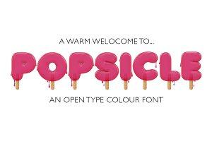 Popsicle - OTF colour font + EXTRAS