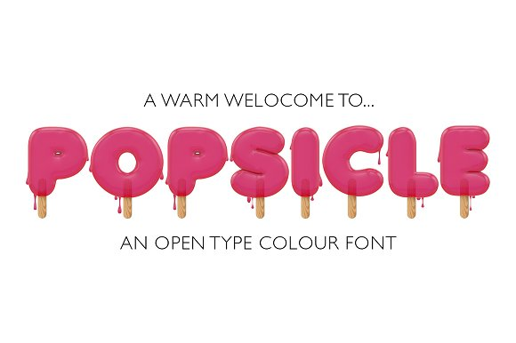 Popsicle OTF Colour Font EXTRAS