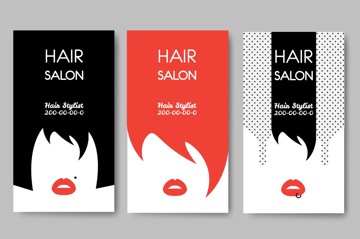 Hair Salon Business Cards ~ Business Card Templates ~ Creative Market