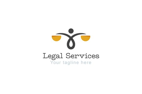 Legal Services Law Attorney Logo