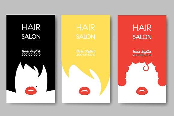 hair salon business cards business card templates creative market - Salon Business Cards