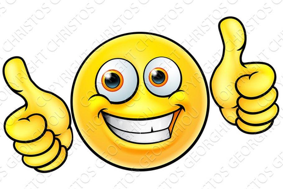 Happy Thumbs Up Emoji Emoticon