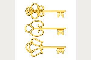 Antique Golden Keys.