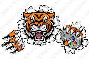 Tiger Angry Esports Mascot