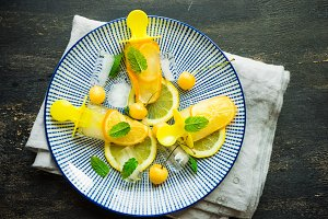 Organic fruit concept with lemon