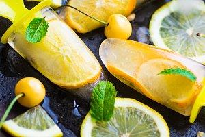 Organic fruit concept with lemon