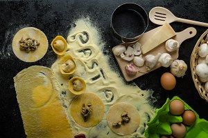 Making pasta from italian flour semolina