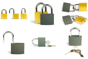 Padlock isolated
