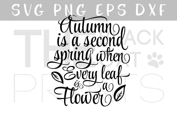 Autumn SVG Quote Fall SVG DXF EPS