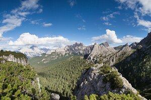 Summer Dolomites mountains