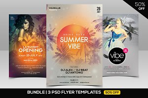BUNDLE 50% OFF - 3 PSD Event Flyers