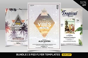 BUNDLE 50% OFF - 3 PSD Summer Flyers
