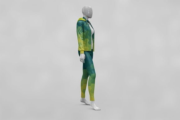 Female Sport Outfit MockUp Vol4