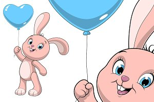 Funny baby rabbit