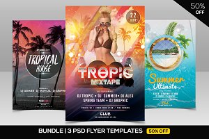 BUNDLE 50% OFF - 3 Summer PSD Flyers