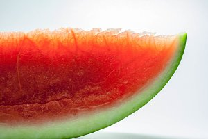 Slice of watermelon pitted
