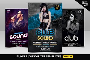 BUNDLE 50% OFF - 3 PSD Club Flyers