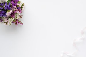 Styled photo - flowers & ribbon