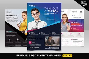 Business vol2 psd flyer template flyer templates creative market 8 business corporate 3 psd flyers by fidan selmani in templates bundle 50 off 3 flashek Images