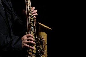 Closeup saxophone