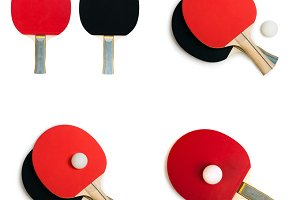 Tennis rackets for ping pong