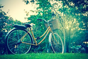 Classic Bicycle at sunset