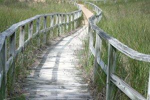 Boarded Beach Path