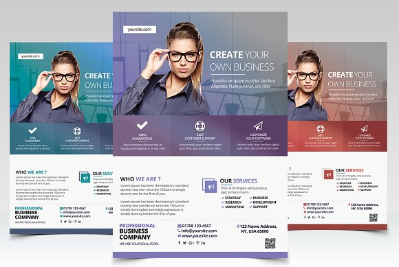 Bundle 50 off 3 psd business flyers flyer templates creative market fbccfo Choice Image