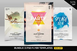 BUNDLE 50% OFF 3 PSD Minimal Flyers