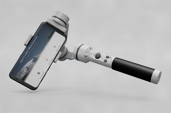 Samsung GalaxyS8 Selfie Stick MockUp