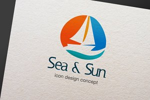 Sea & Sun - Logo Template