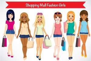 Shopping Mall Fashion Girls