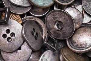 set of retro iron buttons