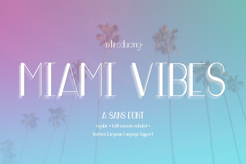 Miami Vibes Deco Sans Font Sans Serif Fonts Creative