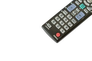 remote control TV isolated on white background