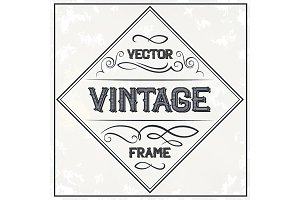 Vector frame - vintage text decoration. Monogram