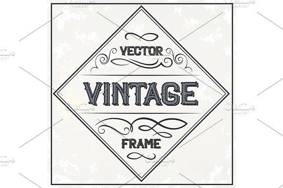 Vector frame - vintage text decoration. Monogram ~ Illustrations ...