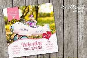 Valentines Template Mini Session Set