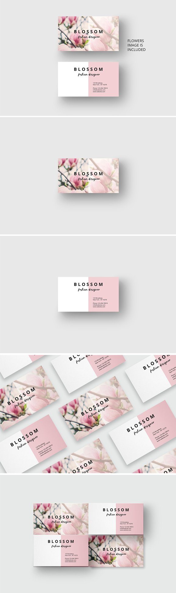 Vintage Flower Business Card Business Card Templates Creative Market