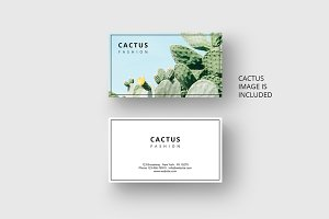 Cactus business card template