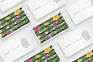 Flowers business card template
